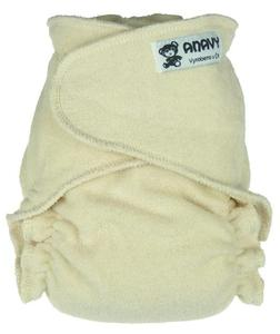 Natural Fitted diaper snapless