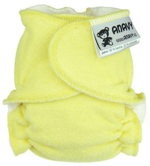 Light yellow Fitted diaper snapless