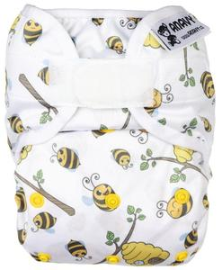 Bees PUL diaper cover with velcro
