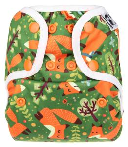 Foxes PUL diaper cover with snaps