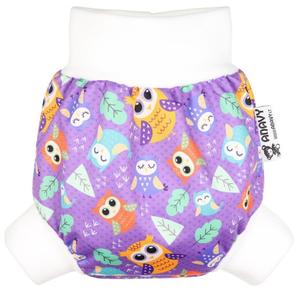 Owls (violet) PUL diaper cover pull-up