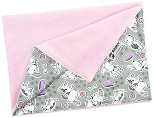 Light pink/Dogs (grey) Changing mat