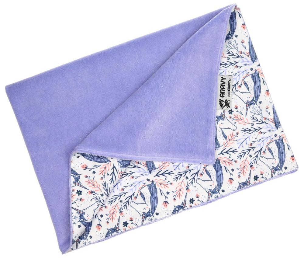 Periwinkle/Unicorns Changing mat