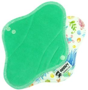 Mint/Trolls Menstrual pad with PUL