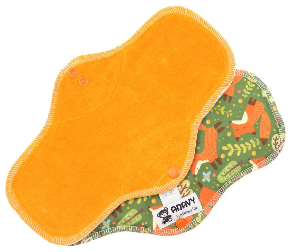 Carrot/Foxes Menstrual pad with PUL