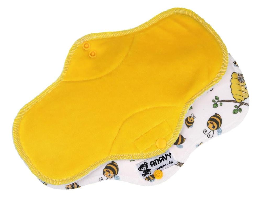 Lemon/Bees Menstrual pad with PUL