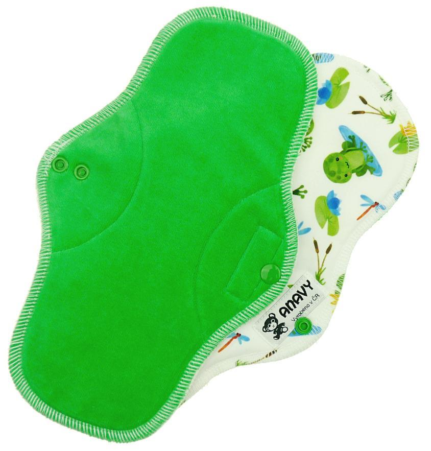 Pine/Frogs Menstrual pad with PUL