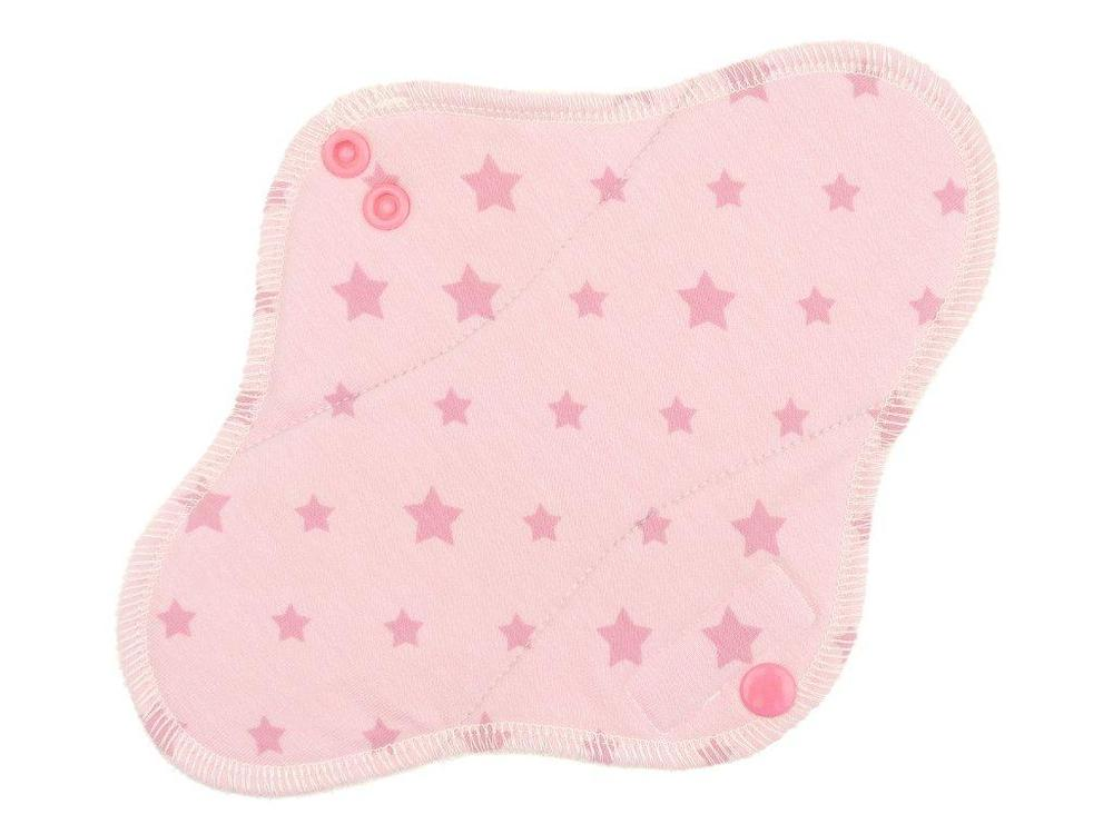 Stars(pink) Menstrual pad with PUL