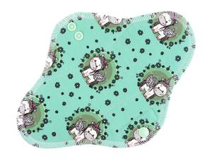 Unicorns in the meadow Menstrual pad with PUL