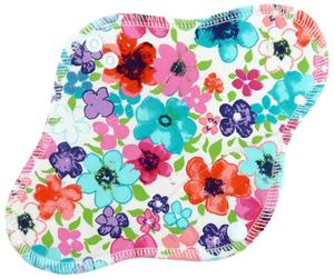Flowers(multicolor) Menstrual pad with PUL