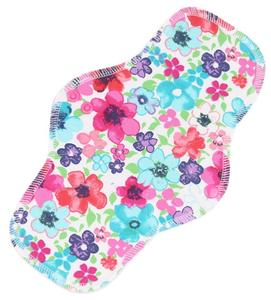 Flowers (multicolor) Menstrual pad with PUL