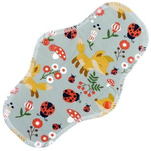 Foxes (grey) Menstrual pad with PUL