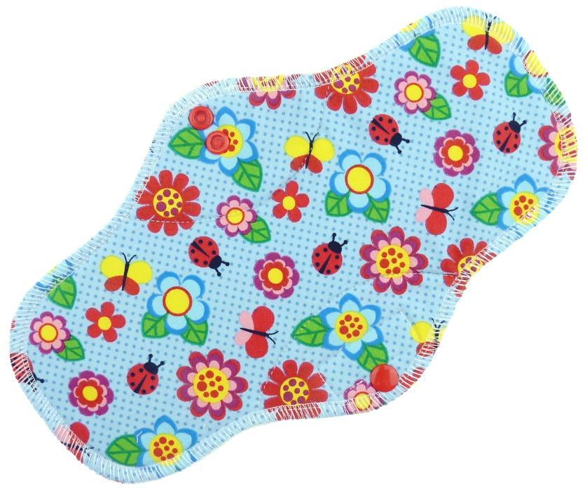 Meadow in bloom Menstrual pad with PUL