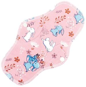 Rabbits (pink) Menstrual pad with fleece