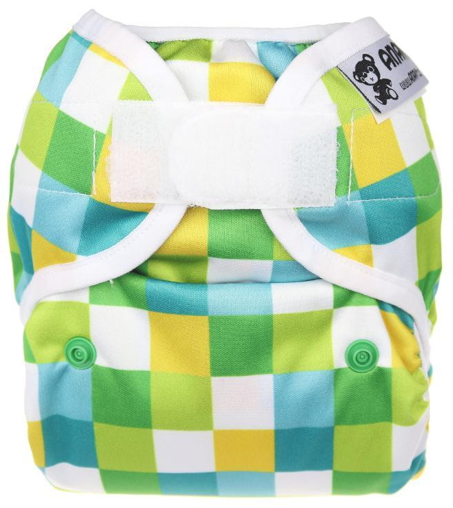 Squares PUL diaper cover with velcro