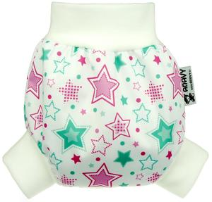 Stars (mint) PUL diaper cover pull-up