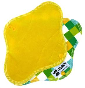 Lemon/Squares Menstrual pad with PUL