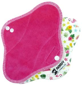 Sugar/Flamingo Menstrual pad with PUL