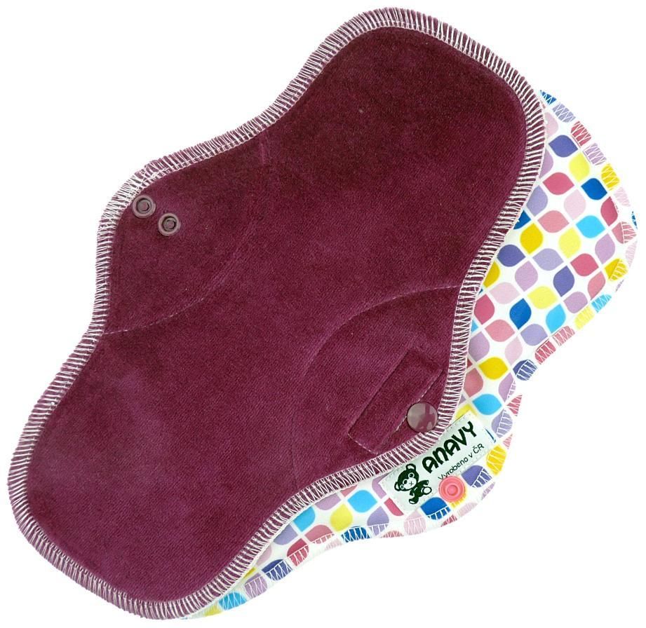 Blackberry/Mosaic Menstrual pad with PUL