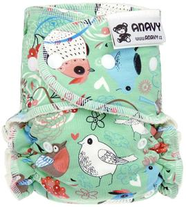 Sweet bird Fitted diaper with snaps