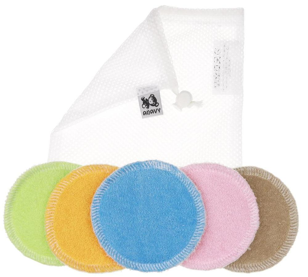 5 pcs in a washing bag Make-up remover pads