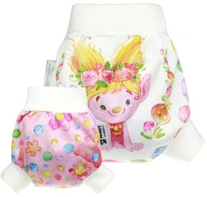 Trolls (yellow) PUL diaper cover pull-up