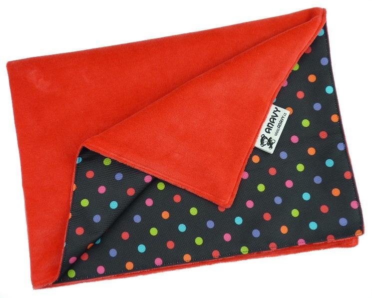 Strawberry/Colored dots Changing mat