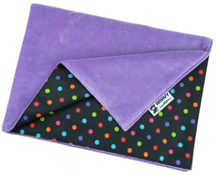 Lavender/Colored dots Changing mat
