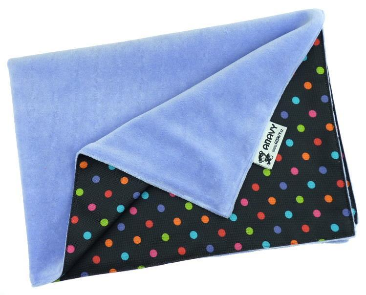 Periwinkle/Colored dots Changing mat