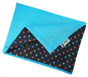 Turquoise/Colored dots Changing mat