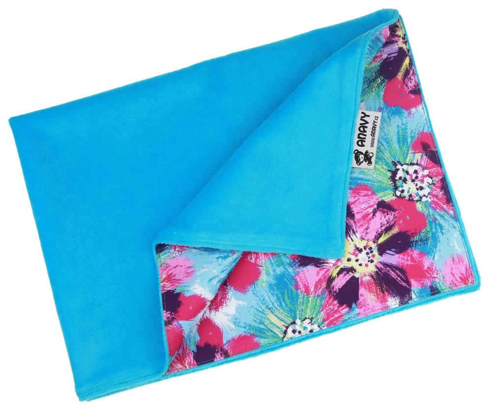 Turquoise/Flowers (purple) Changing mat