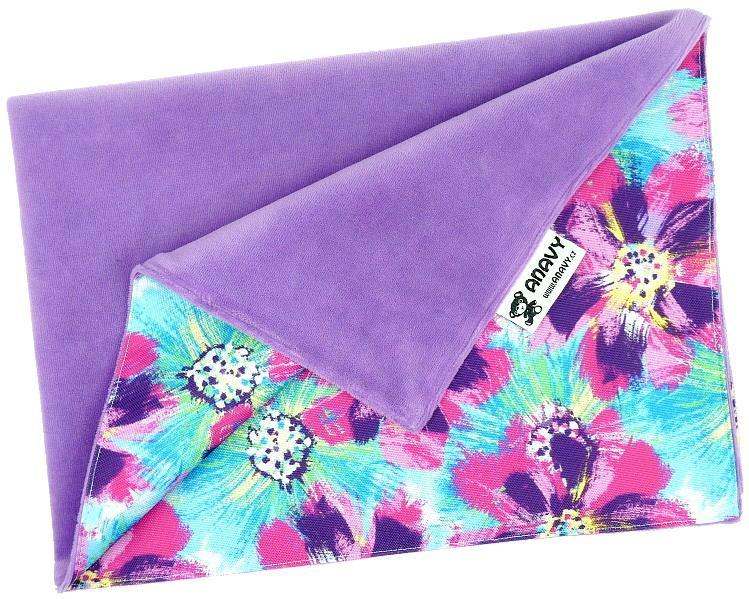 Lavender/Flowers (purple) Changing mat