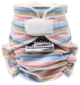 Stripes (pastel) Fitted diaper with velcro