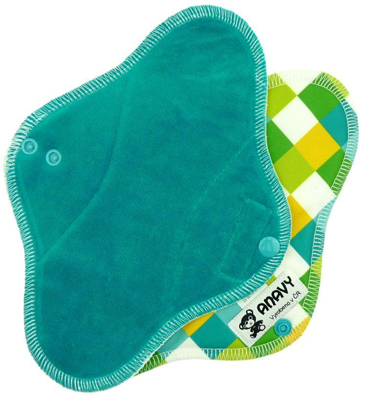 Jade/Squares Menstrual pad with PUL