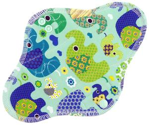 Elephants (mint) Menstrual pad with fleece