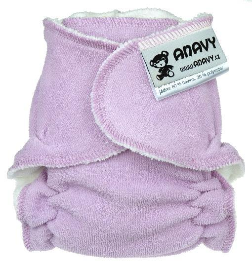 Light purple Fitted diaper snapless