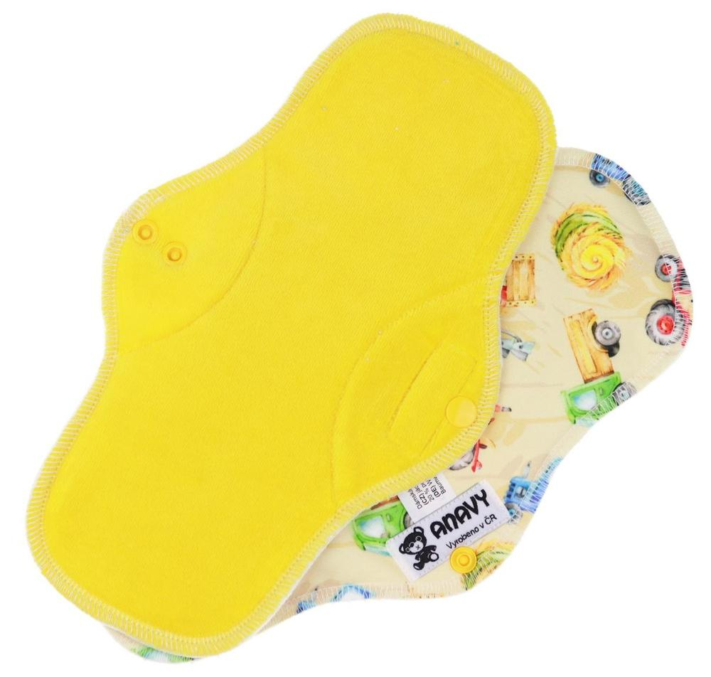Lemon/Harvest Menstrual pad with PUL