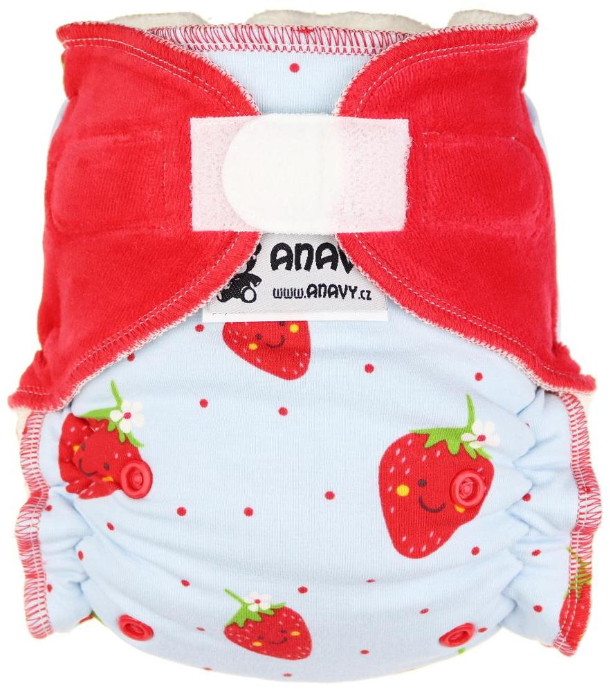 Strawberries Fitted diaper with velcro
