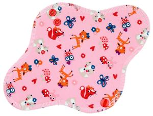 Animals (pink) Menstrual pad with fleece
