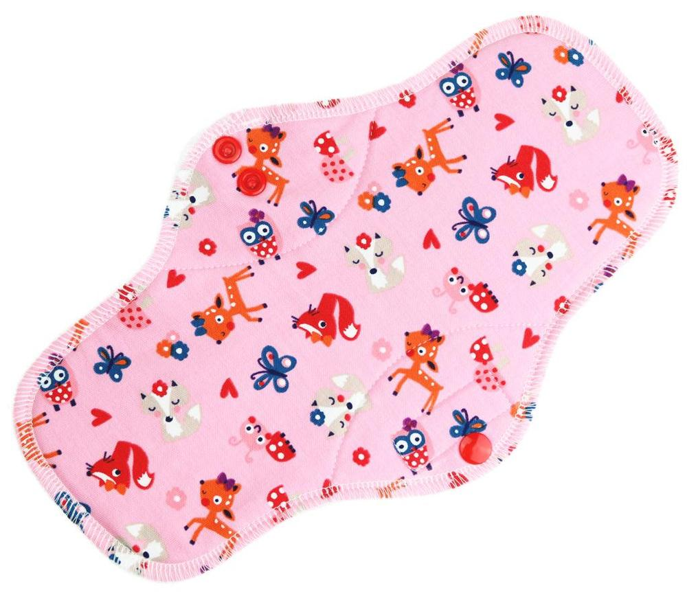 Animals (pink) Menstrual pad with PUL