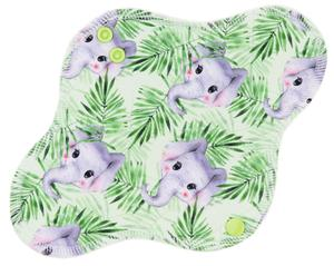 Elephants in grass Menstrual pad with PUL