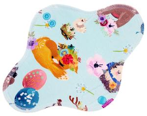 Animals and balloons Menstrual pad with PUL