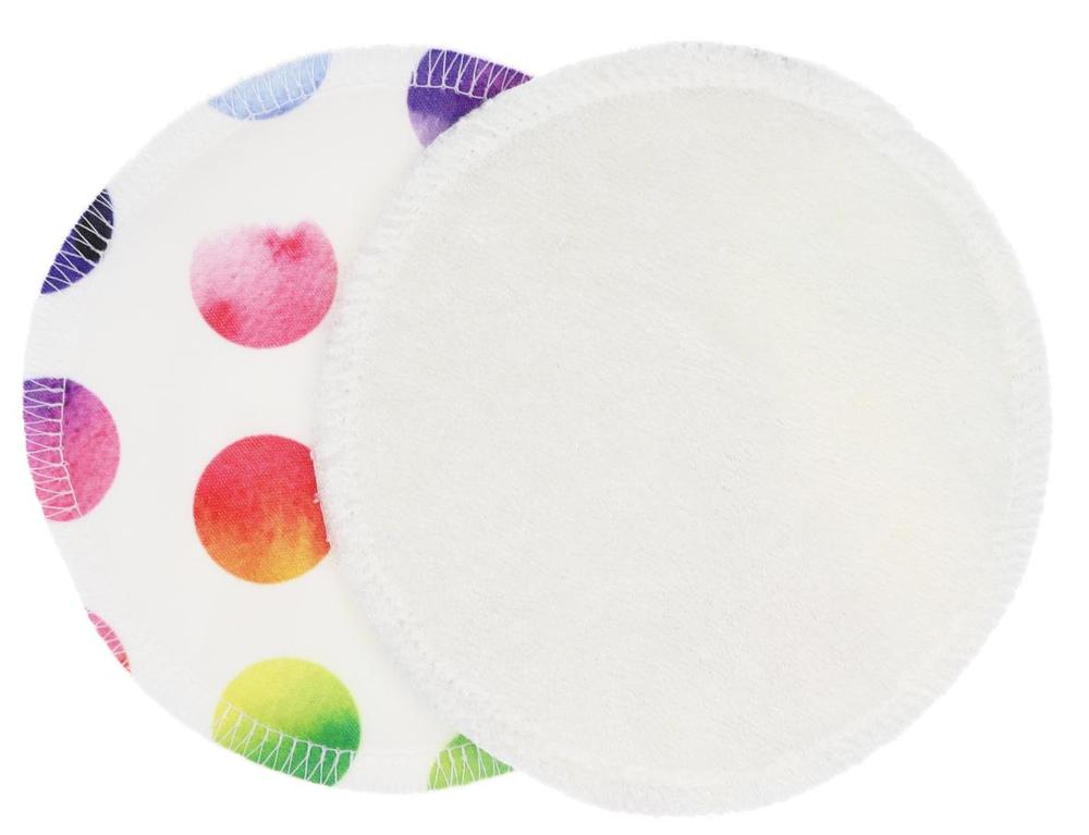 Cream/Rainbow circles (PUL) Nursing pads