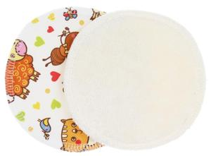 Cream/Farm animals (PUL) Nursing pads