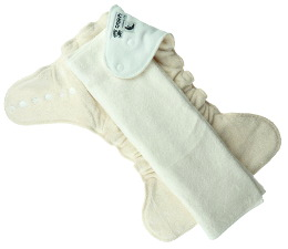Night diaper with a prefold insert